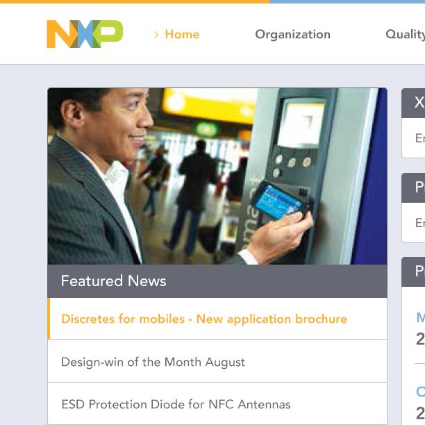 Thumbnail for NXP Intranet